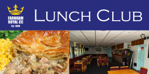 FRCC Lunch Club - **OPENING OFFER - £10 for 2 courses**