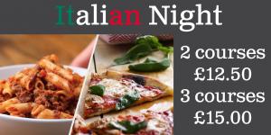 Italian Food Night @ Farnham Royal Cricket CLub